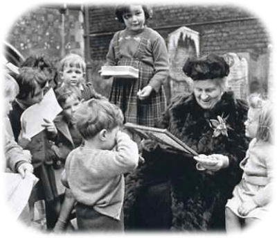Dr. Maria Montessori - the founder of the Montessori philosophy of education.